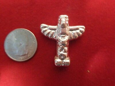 1.2 Troy ounce .999 Silver. Hand poured Totem Pole design ingot   MFS