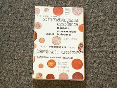 1966 Guide Book of Canadian Coins paper currency and tokens Taylor James #2552