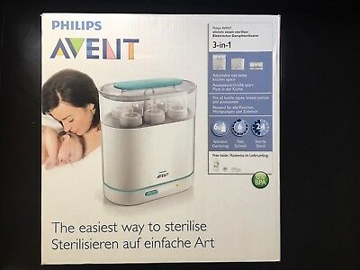 Philips AVENT 3-in-1 Electric Steam Steriliser- 99% New