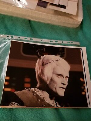 Star Trek TOS Autograph William O'Connell/Thelev 8 x 10  Auto Photo hand signed