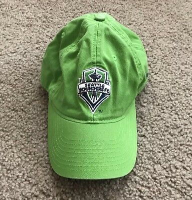 on sale 86119 0cd7e SEATTLE SOUNDERS FC ADIDAS Hat Cap Adjustable One Size Fits All Green Soccer  MLS
