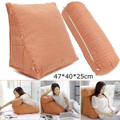 Adjustable Sofa Bed Chair Neck Back Arm Support Wool Wedge Cushion Pillow AU