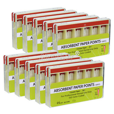 100 Packs Dental Absorbent Paper Points PP 0.04 25# Endo Root Canal 100pcs/Pack