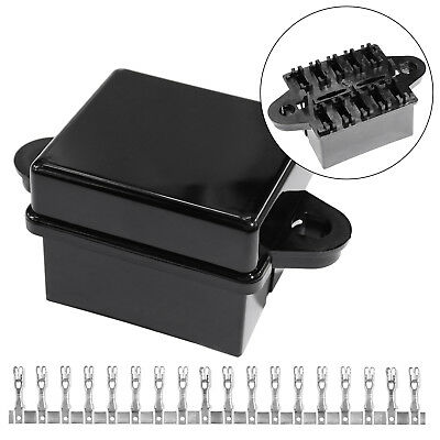10-Way automobile fuse box assembly with upper and lower cover and terminal G9R6
