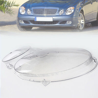 Left Headlamp Cover Clear Lens Headlights Plastic Lamp For Benz W211 2002-2008