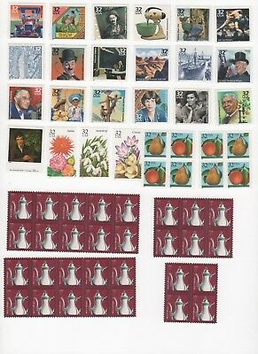 35 Cent Postage Combo Stamps Enough to Mail 30 Postcards - Face Value $10.50