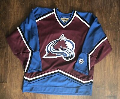 KOHO JOE SAKIC Colorado Avalanche Alternate 3rd Purple Jersey L NHL ... 1b704291a