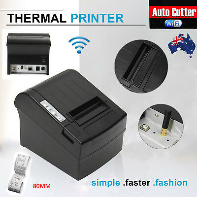 Wifi POS Receipt Printer 300mm/sec 80mm Thermal Auto Cutter USB/Ethernet Network