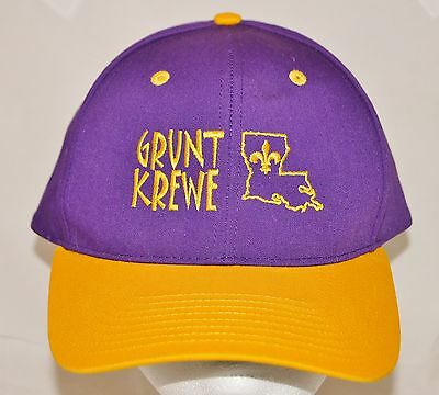 537a390b6f7 ... official store new orleans saints grunt krewe snapback baseball cap hat  embroidered nwot m l aaa74 e98c1