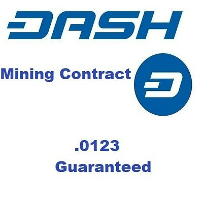 0.0123 DASH - Crypto MINING-CONTRACT - DASH