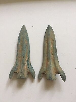 pair of arrows hot sale bronze arrowhead coin Chinese curio vintage collection