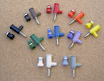 Pomona Stacking 4mm Banana Plugs, Matching Jacks 10 Colors Red Black White etc..