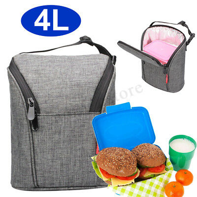 4L Insulated Lunch Box Bag Tote Cold Thermal Cooler Travel Work School Picnic