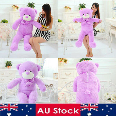 AU 60cm Purple Teddy Bear Plush Soft Toy Gift Stuffed Cotton Doll  Kids Children