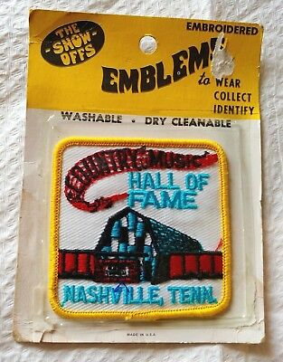 Vtg COUNTRY MUSIC HALL OF FAME Nashville Tenn SEW-ON Embroidered PATCH  Emblem 2ec3e49b2f012