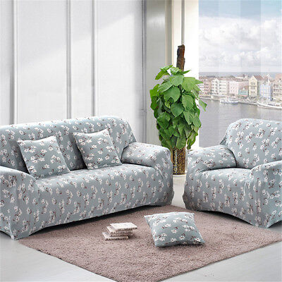 1 2 3 4 Seater L Shape Elastic Slipcover Stretch Chair Sofa Couch Protect Cover