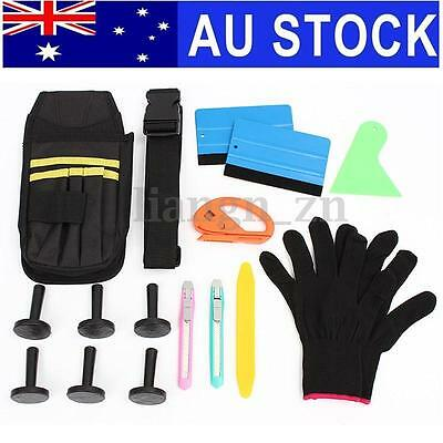 New Cutter Squeegee Bag Razor Wrapping Gloves 6 Magnets Car Wrap Vinyl Tools Kit