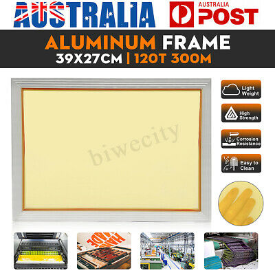 27x39CM Aluminum Alloy Silk Screen Printing Frame With 120t 300M Screen Mesh