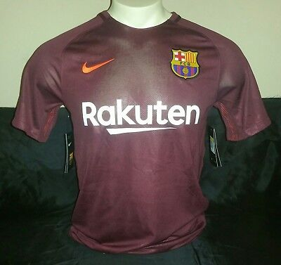 be49b727e BARCELONA FC NIKE Maroon Youth L Soccer Jersey Authentic 17 18 ...