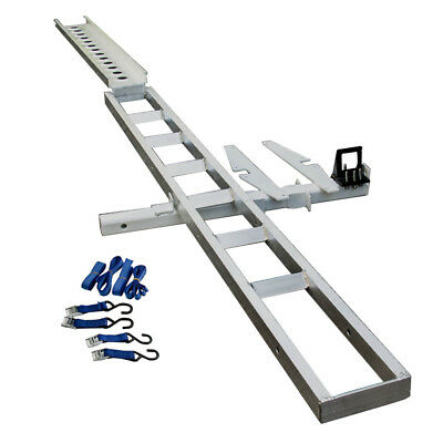 Aluminum Motorcycle Carrier Rack and Ramp Motorbike Dirt Bike Tow bar with Ramp