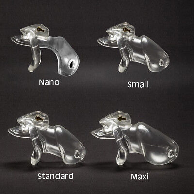 V3 Model Medical grade Clear Bio-sourced Resin Chastity Device Cage Bondage A380