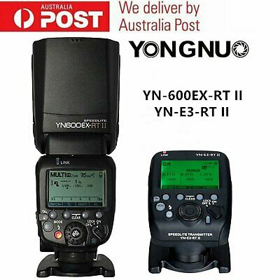 Yongnuo YN600EX-RT II TTL Speedlite Flash Light & YN-E3-RT II Trigger for Canon