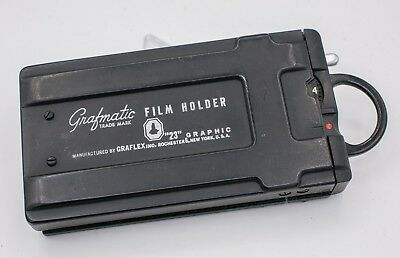 Graflex Grafmatic 23 Century Speed Graphic Camera Film Holder & Darkslide