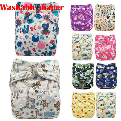 US Infant Baby Adjustable Washable Reusable Cloth Diaper Pocket Nappy Cover Wrap