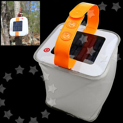 Inflatable LED Light Waterproof Solar Powered Survival Camping Tool Outdoor Lamp