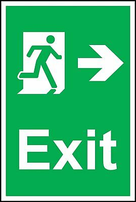Fire Exit Symbol & Right Arrow Safety Sign