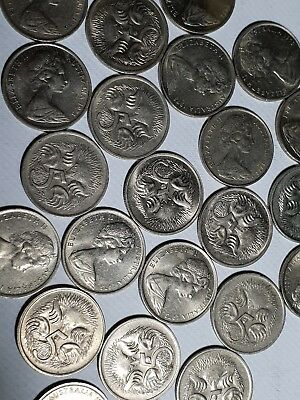 1973 5 cent coin x 5 QUALITY CIRCULATED COLLECTION AUSTRALIAN INVESTMENT