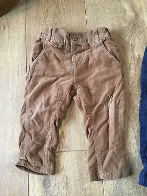 7no Baby Boy Trousers/ Cords Bundle 6months - 2 Years