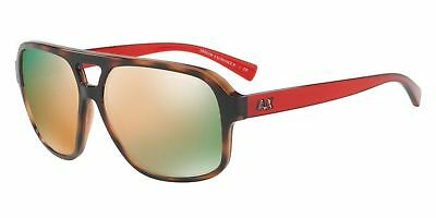 f833440630f Armani Exchange Mens Injected Man Square Sunglasses Matte Black 57 mm  0AX4049S Clothing