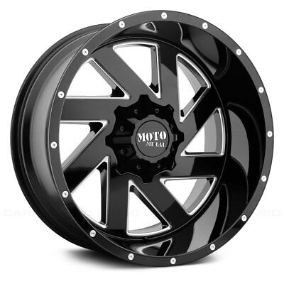 Moto Metal MO988 MELEE Wheel 22x12 (-44, 8x165.1, 125.5) Black Single Rim