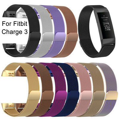 Magnetic Milanese Strap Wristband Replacement Watch Band For Fitbit Charge 3