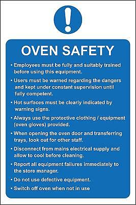 Oven safety kitchen catering Safety sign