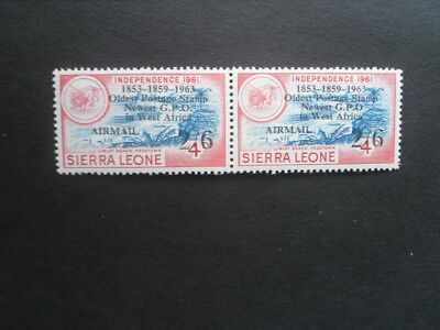 """SIERRA LEONE 1963 P.O. 2/6 on 4d variety """"no stop after O""""  MNH/MLH"""