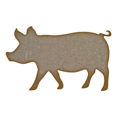 Pig MDF Laser Cut Craft Blanks in Various Sizes