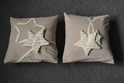 Mamas and Papas Millie and Boris Neutral Star Nursery Cushion Decorative Pillow