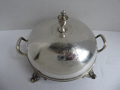 Sterling Silver Baily & Co Covered Butter Dish with Handles Insert & Cover