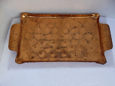 Vintage Roycroft Hand Hammered Copper Tray with Handles Arts & Crafts Era