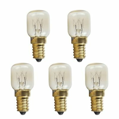 5PCs Light Microwave Oven Bulb High Temperature Resistant 300 Celsius With Screw