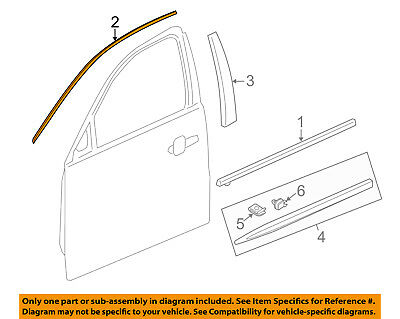 Cadillac GM OEM 13-18 XTS Front Door-Reveal Molding Right 23143404