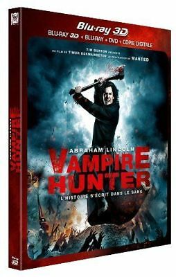 Blu Ray 3D + 2D + DVD : Abraham Lincoln Vampire Hunter 3D + Version 2D - NEUF