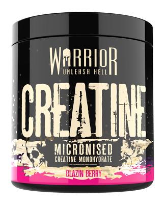 Warrior Creatine Monohydrate 300G 60Servings Strawberry Berry Unflavoured