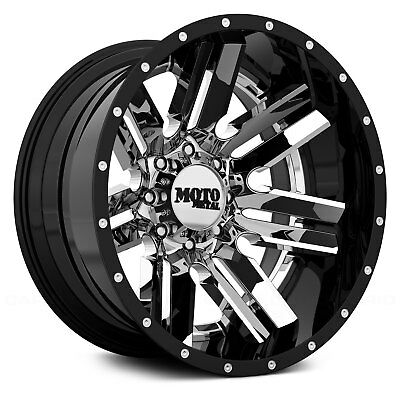Moto Metal MO202 Wheel 22x12 (-44, 8x165.1, 125.5) Black Single Rim