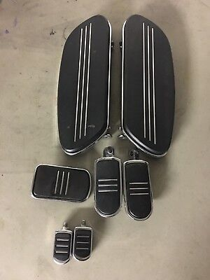 StreamLiner Style Chrome Riders Floorboard Controls Kit 1997 & Up Harley Touring
