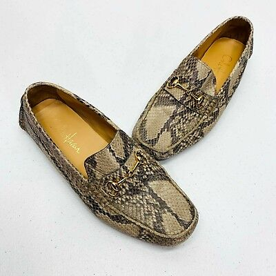 bca351ccb00 Cole Haan Womens Shelby Loafer Moc Driver Roccia Snake Skin Bit Size 7B Flat  Air