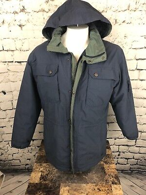 Cabela's Men's Blue Gore-Tex Thinsulate Jacket Parka Large With Hood (R1)