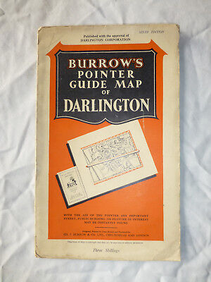 Vintage Burrow's Pointer Guide Map of Darlington